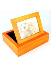 Stafford wooden pet Urns for small dog